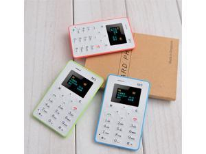 Original AIEK M5 Card Mobile Phone 4.5mm Ultra Thin Pocket Mini Phone Quad Band AEKU M5 Card phone FM