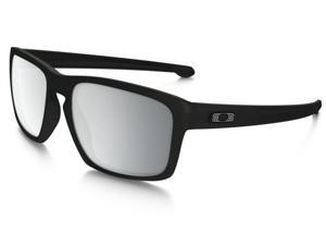 Oakley Sliver Machinist Collection Sunglasses OO9262-26 Matte Black Frame / Chrome Iridium Lens
