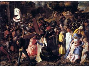 "Giovanni Cariani The Way to Calvary - 18"" x 24"" Premium Canvas Print"