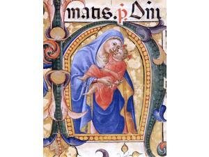 "Bartolomeo Di Fruosino Antiphonary (Cod. B, folio 148) - 16"" x 20"" Premium Canvas Print"