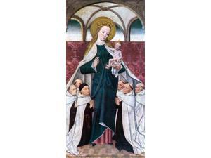 "Master the Virgin The Virgin of Mercy - 14"" x 28"" Premium Canvas Print"