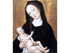 "Master the Virgin Virgin and Child - 16"" x 20"" Premium Canvas Print"