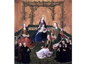 "Master the Virgin Virgin and Child with Three Saints - 16"" x 20"" Premium Canvas Print"