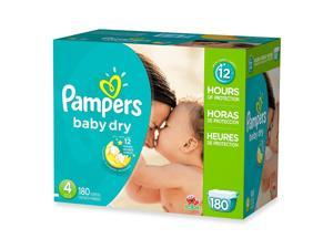 Pampers Baby Dry, Size 4 (22-37 lbs.) 180 ct.