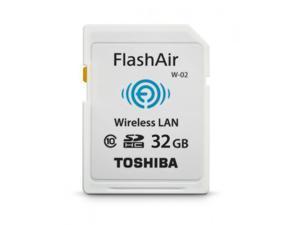 32GB Toshiba FlashAir Wi-Fi LAN W-02 SDHC CL10 memory card