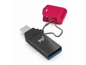 64GB PQI Connect 301 OTG USB Flash Drive - USB3.0 Red Edition