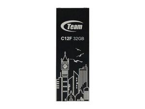 32GB Team C12F Bookmark USB2.0 Flash Drive (Big Ben) Black