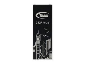 16GB Team C12F Bookmark USB2.0 Flash Drive (Big Ben) Black
