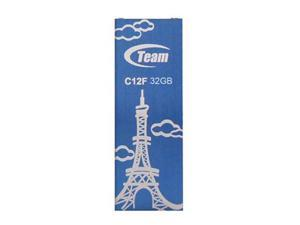 32GB Team C12F Bookmark USB2.0 Flash Drive (Eiffel Tower) Blue