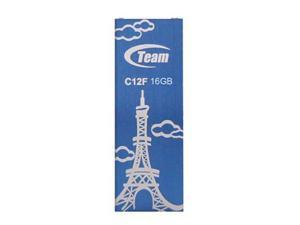 16GB Team C12F Bookmark USB2.0 Flash Drive (Eiffel Tower) Blue