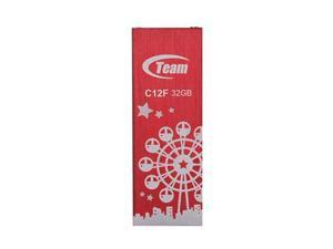 32GB Team C12F Bookmark USB2.0 Flash Drive (London Eye) Red