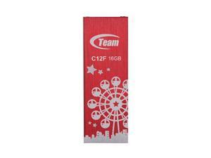 16GB Team C12F Bookmark USB2.0 Flash Drive (London Eye) Red