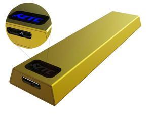 ZTC Thunder Enclosure NGFF M.2 SSD to USB 3.0 Adapter. Support UASP SuperSpeed 6Gb/s 520MB/s Gold Model ZTC-EN004-G