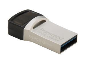 32GB Transcend JetFlash 890S OTG Flash Drive with USB3.1 and USB Type-C Connectors