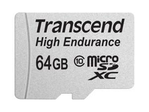 64GB Transcend High Endurance MicroSDXC Card CL10 w/SD Adapter
