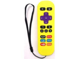 Amaz247 ARCBZ01 Replacement Remote for Roku Streaming player (Roku 1/2/3, HD/LT/XS/XD)&#59; DO NOT Support Roku Stick or Roku TV&#59; Yellow