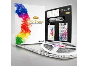 COLORBLOOM® 300 Multi-Color Changing LED Kit - 5M/16.4ft Flexible & Waterproof Strip, Power Supply and Remote Control [Featuring 5050 RGB Mikro-SMD Technology]
