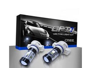 OPT7 5202 CREE LED DRL Fog Light Replacement Bulbs - 5000K Pure White