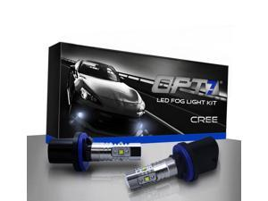OPT7 880 CREE LED DRL Fog Light Replacement Bulbs - 10000K Blue