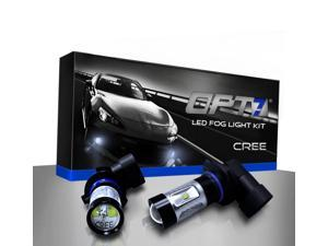 OPT7 9005 CREE LED DRL Fog Light Replacement Bulbs - 10000K Blue