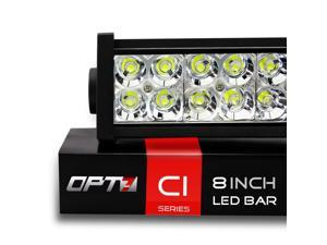 "OPT7 C1 Series 8"" Off-Road LED Light Bar, 36w Spot Auxiliary ATV SidexSide Boat Marine Work Lamp"