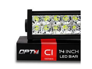 "OPT7 C1 Series 14"" Off-Road LED Light Bar, 72w Spot Auxiliary ATV SidexSide Boat Marine Work Lamp"