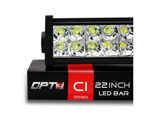"OPT7 C1 Series 22"" Off-Road LED Light Bar, 120w Flood/Spot Combo Auxiliary ATV SidexSide Boat Marine Work Lamp"