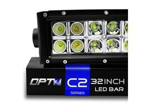 "OPT7 C2 Series 32"" Off-Road CREE LED Light Bar - Flood/Spot Combo Auxiliary ATV Boat Marine Work Lamp (14000 Lumen)"