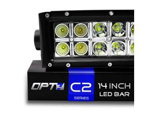 "OPT7 C2 Series 14"" Off-Road CREE LED Light Bar - Flood/Spot Combo Auxiliary ATV Boat Marine Work Lamp (6000 Lumen)"