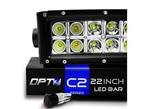 "OPT7 C2 Series 22"" Off-Road CREE LED Light Bar and Harness - Flood/Spot Auxiliary Lamp Combo (10000 Lumen)"