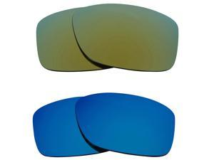 New SEEK Replacement Lenses for Oakley JUPITER SQUARED Blue Green Mirror ON SALE