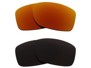New SEEK Replacement Lenses for Oakley JUPITER SQUARED Brown Red Mirror ON SALE