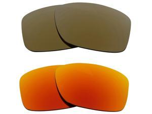 New SEEK Replacement Lenses for Oakley JUPITER SQUARED Gold Yellow Mirror SALE