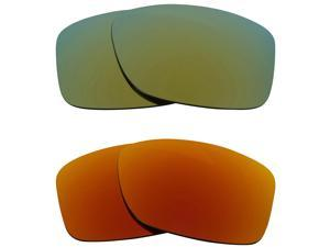 New SEEK Replacement Lenses for Oakley JUPITER SQUARED Red Green Mirror ON SALE