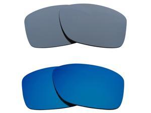 New SEEK Replacement Lenses for Oakley JUPITER SQUARED Silver Mirror Blue SALE
