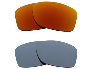 New SEEK Replacement Lenses for Oakley JUPITER SQUARED Red Silver Mirror  SALE