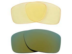New SEEK Replacement Lenses for Oakley JUPITER SQUARED HI Yellow Green Mirror
