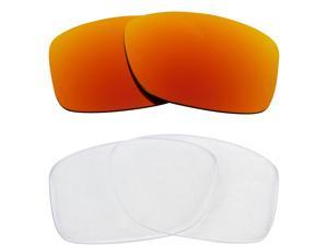 New SEEK Replacement Lenses for Oakley JUPITER SQUARED Clear Yellow Mirror SALE