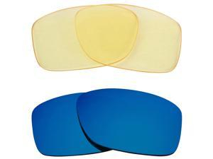 New SEEK Replacement Lenses for Oakley JUPITER SQUARED HI Yellow Blue Mirror