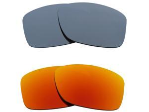 New SEEK Replacement Lenses for Oakley JUPITER SQUARED Silver Mirror Yellow SALE