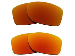 New SEEK Replacement Lenses for Oakley JUPITER SQUARED Red Yellow Mirror ON SALE