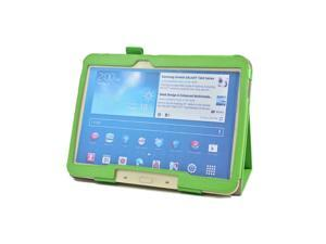 """Stand  PU Leather Case Cover for Samsung Galaxy Tab 3 10.1"""" P5200 Tablet Cover Case Wholesale+Film+Stylus GREEN"""