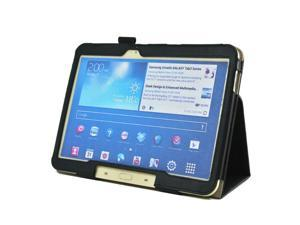 Fold wallet Card Hand Holding Band Cover  PU leather Protective case For SAMSUNG Galaxy tab 3 10.1 p5200