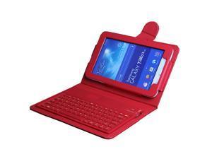 "For Samsung Galaxy Tab 3 Lite 7.0 7"" SM-T110 T111 Wireless Bluetooth Keyboard Case Cover & Film & Stylus"