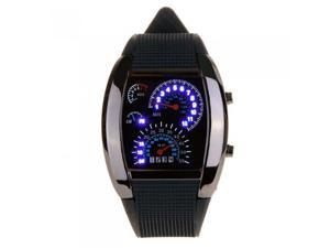 Stainless Steel LED Car Speedometer / Dashboard Wrist Watch