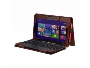 "Portfolio  Stand  Keyboard Cover Case PU Leather For Asus Transformer Book T100 T100TA 10.1"" 10.1 inch"