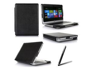 "New Folio PU Leather Tablet Keyboard Case For Acer Aspire Switch 10.1""  SW5-011-18PY Tablet + Stylus"
