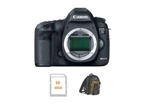 Canon EOS-5D Mark III Digital SLR Camera Body Bundle 32GB #5260B002 A
