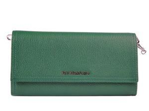 Givenchy women's wallet leather coin case holder purse card bifold pandora green