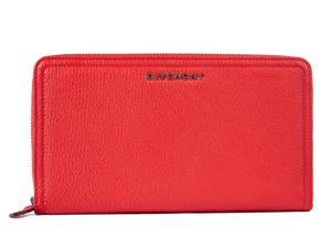 Givenchy women's wallet leather coin case holder purse card bifold pandora red